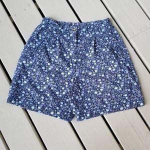 10p blue floral shorts